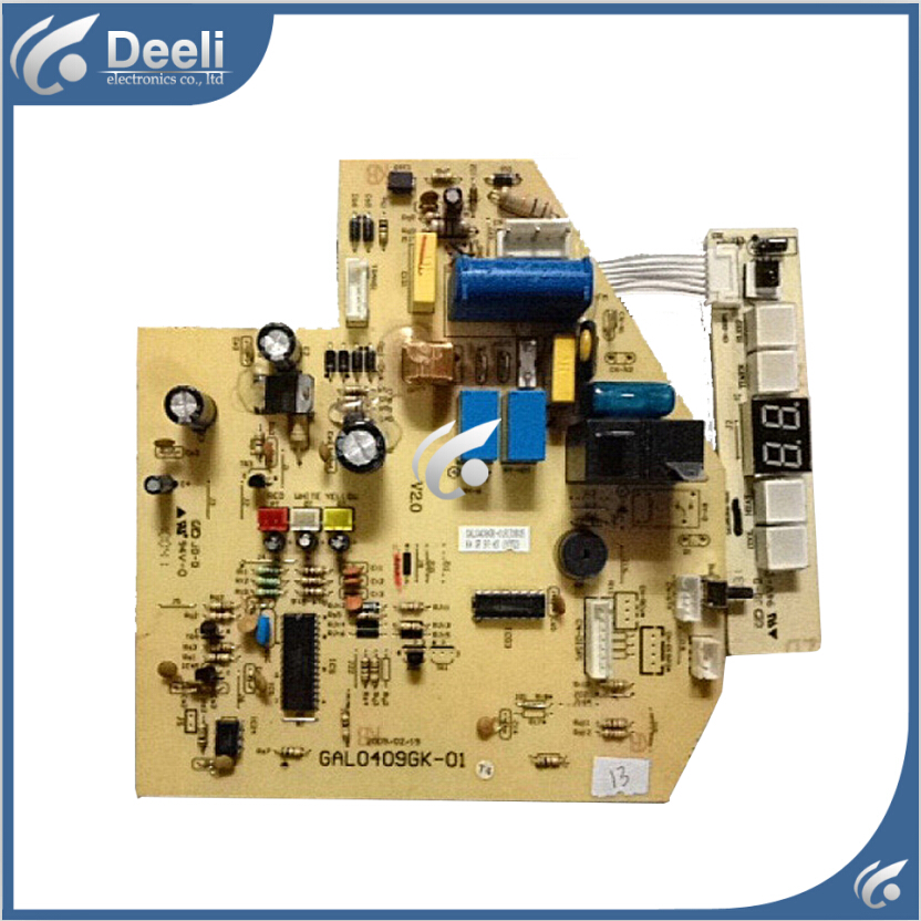 95% new  for Galanz air conditioning Computer board GAL0409GK-01 circuit board 4 lights 2pcs/set used board for galanz air conditioning computer board circuit board gal0411gk 12aph1