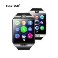 SCELTECH Bluetooth Smart Watch Men Q18 With Touch Screen Big Battery Support TF Sim Card Camera