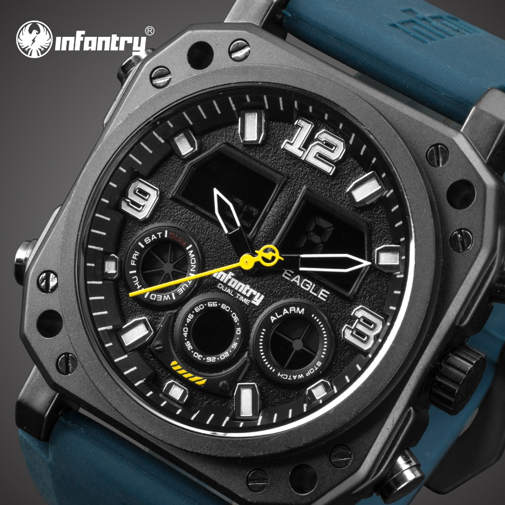 INFANTRY Mens Watches Top Brand Luxury Analog Digital Military Watch Men Tactical Watches for Men Army Marine Relogio Masculino infantry mens watches top brand luxury chronograph military watch men luminous analog digital watches for men relogio masculino