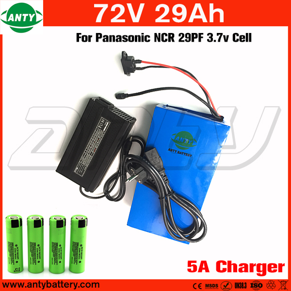 72v Battery 29Ah 2800w For Panasonic Cells Built in 50A BMS Lithium Battery 72v with 5A Charger e Bike Battery 72v Free Shipping free customs taxes super power 1000w 48v li ion battery pack with 30a bms 48v 15ah lithium battery pack for panasonic cell