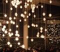 100mm de diâmetro g4 led bola de vidro de cristal pingente de luz ac110v 220 V lâmpada Restaurante bar escada droplight cafés com 2 metro cabo