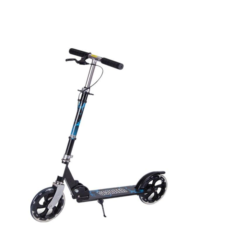 Scooter d'adolescents d'alliage d'aluminium avec les roues en polyuréthane de 20 CM, Scooter pliable de taille réglable, prend en charge la capacité 220lbs