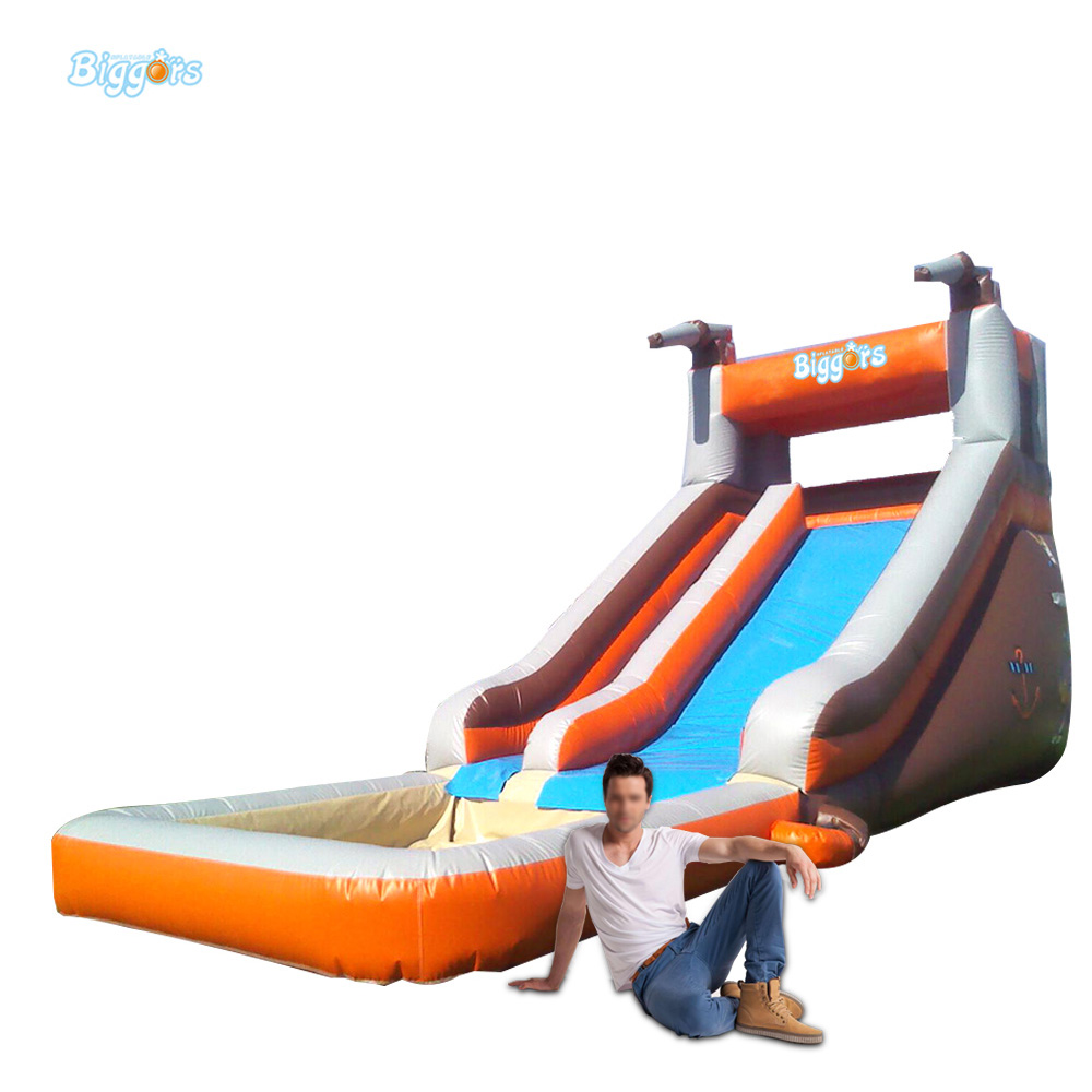 Giant PVC Commercial Inflatable Water Slide With Pool For Sale popular best quality large inflatable water slide with pool for kids