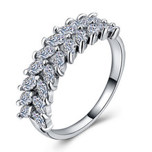 Huitan Fresh Arrival Wedding Ring For Women Ripe Wheat Design Infinite Love Cocktail Party Gadgt With Shiny CZ