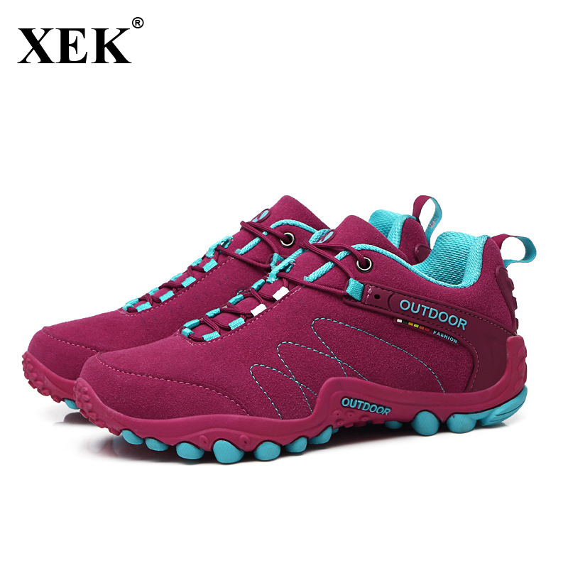 $28.54 XEK 2018 New Running Sneakers For Women Men Outdoor Sports Walking Shoes Ladies Male Girls Non-slip Jogging Trainers Shoes JH56