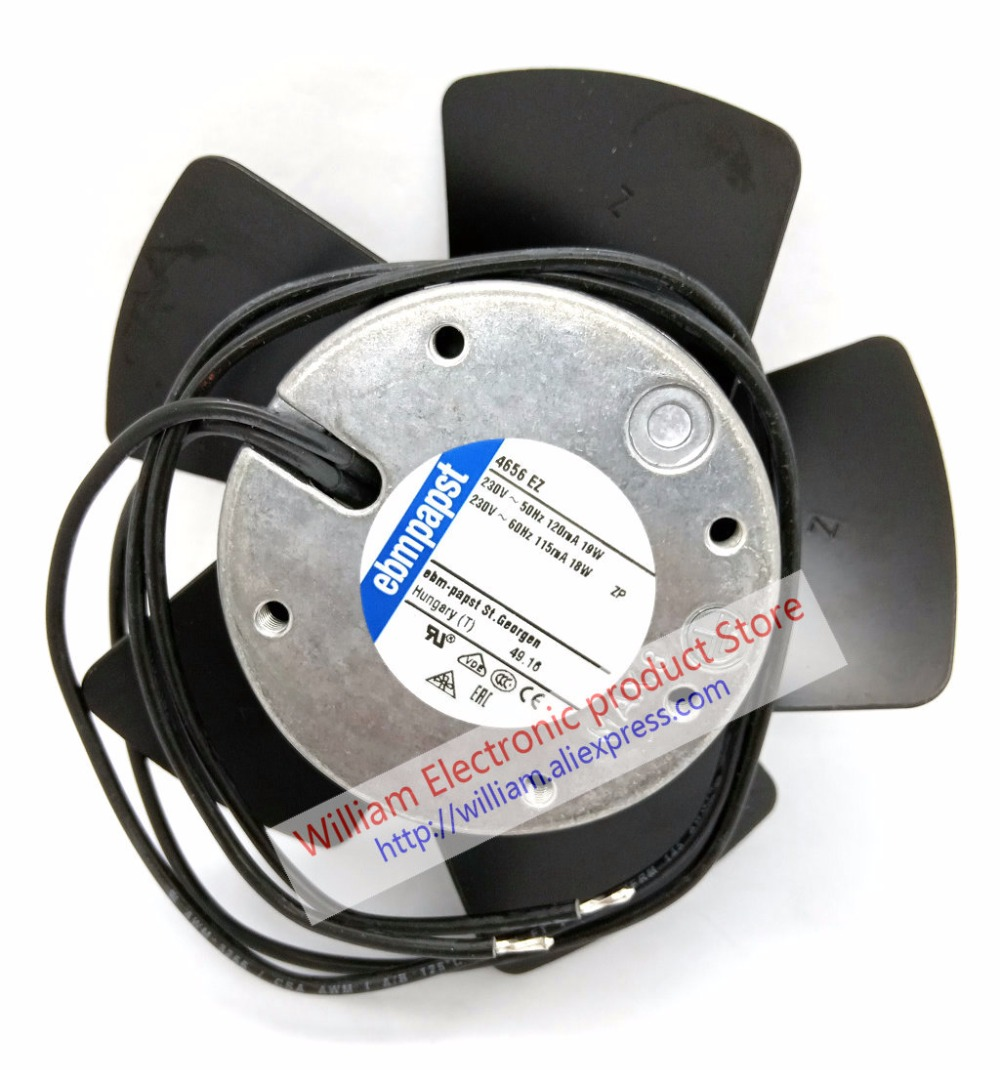 New Original ebmpapst 4656EZ AV230V 120mA/19W 115mA/18W 120 * 38M temperature axial cooling fan original ebmpapst 1120ntd tc 220 230v 16w 19w cooling fan