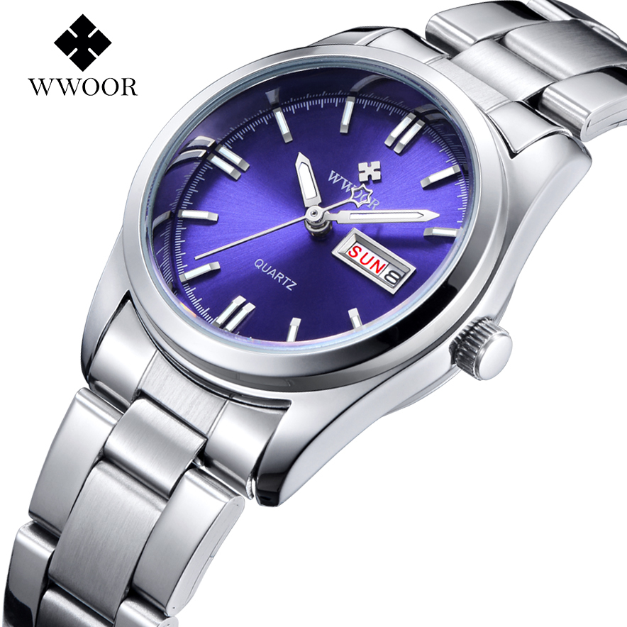 купить New Brand Relogio Feminino Date Day Clock Female Stainless Steel Watch Ladies Fashion Casual Watch Quartz Wrist Women Watches по цене 1532.25 рублей