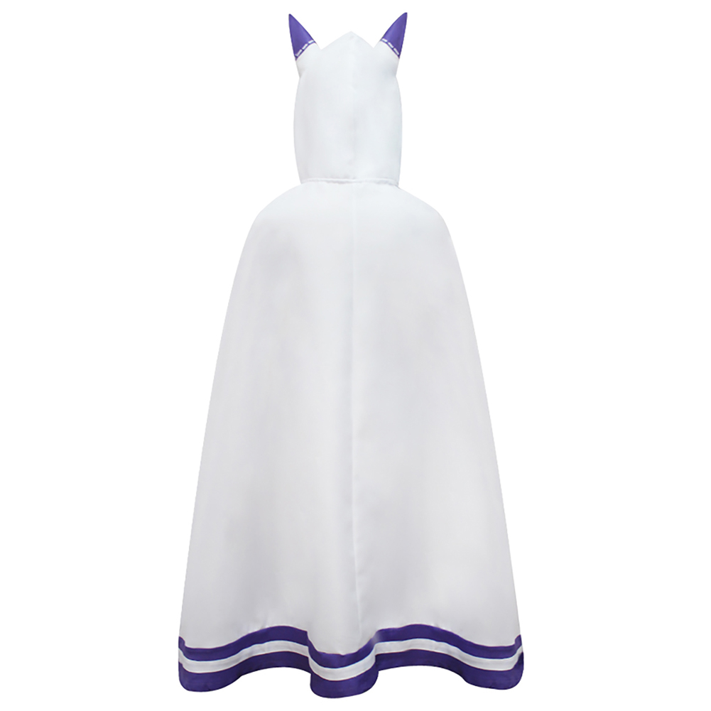Brdwn Re zero Emilia Anime Cosplay Costume cute lovely Cape cat ear cloak in Anime Costumes from Novelty Special Use