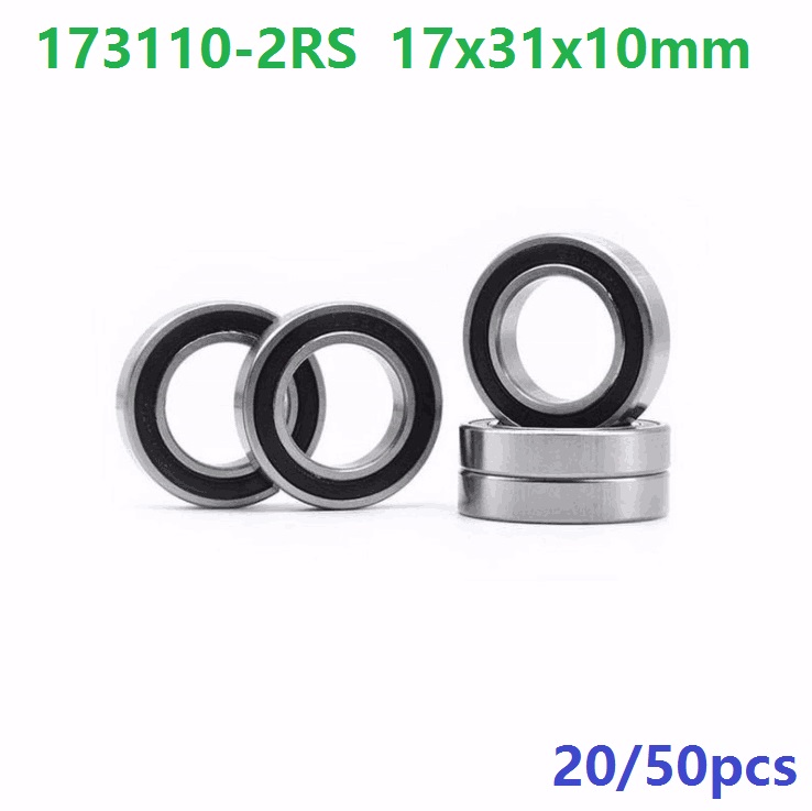 20pcs or 50pcs 173110-2RS 173110RS 173110 2RS 17x31x10 mm deep groove ball bearing for bicycle bottom bracket 17*31*10 sg15 10 2rs for 10 mm 6mm shaft u groove pulley ball bearings 5 17 8 9 75 mm track guide roller bearing sg5rs