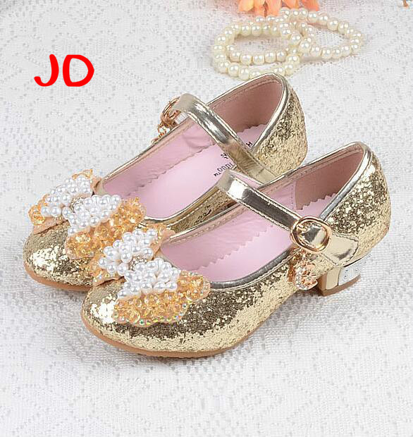 Baby Shoes New 2018 Children Princess Shoes Girls Sequins Girls Wedding Party Kids Dress Shoes For Girls