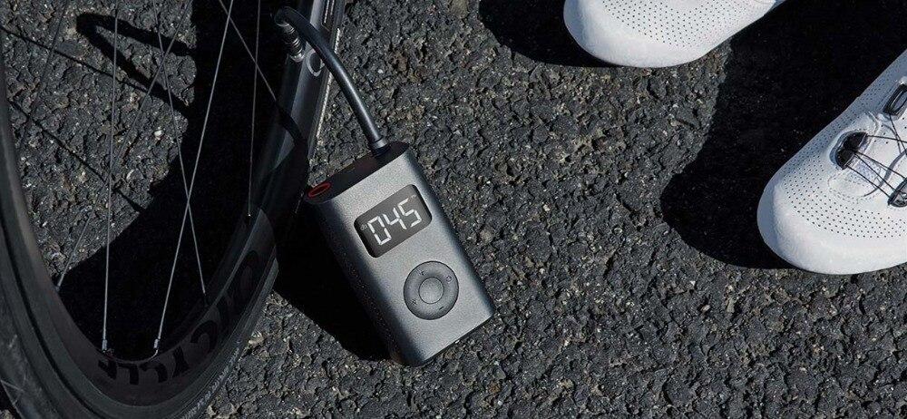 (Prévente) Xiaomi Mijia Portable intelligent numérique détection de pression des pneus pompe de gonflage électrique pour vélo moto voiture Football - 5