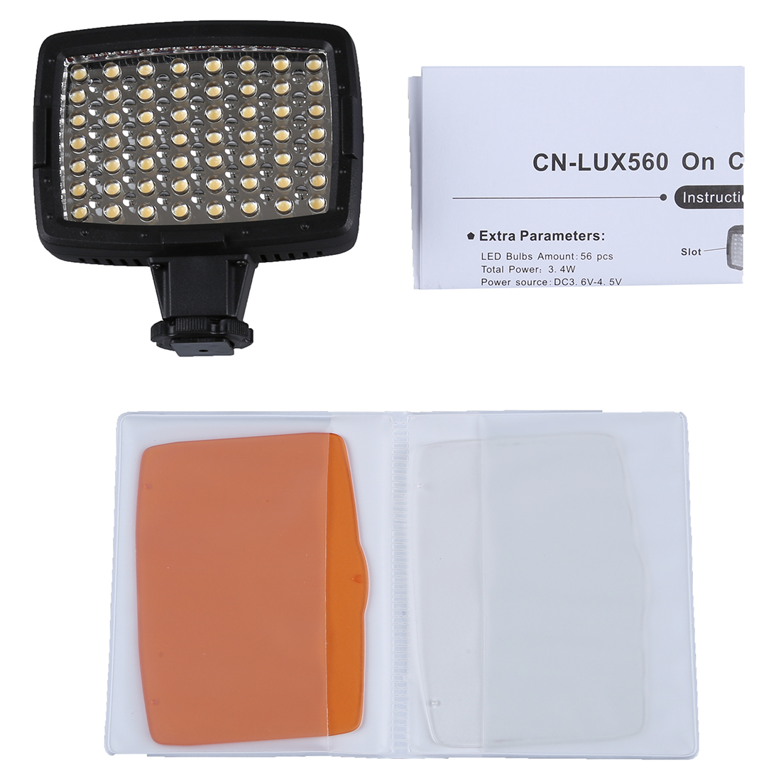 <font><b>5400K</b></font> <font><b>LED</b></font> Video Light Lamp for Camera DV Camcorder Lighting
