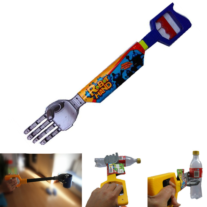 Plastic Robot Claw Hand Grabber Grabbing Stick Move And Grab Things DIY Robot For Kids Boy Toy