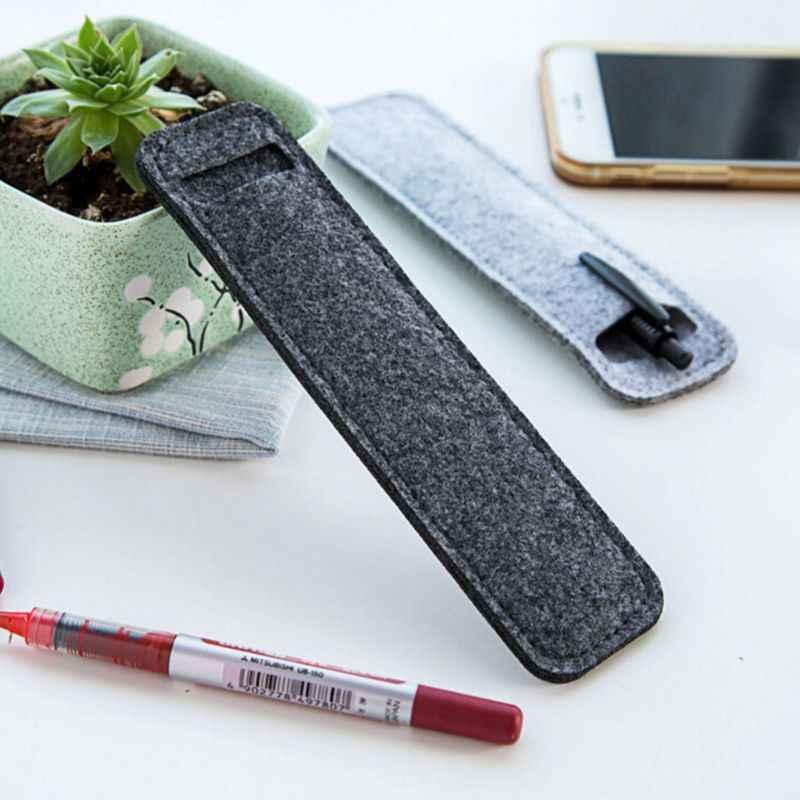 Caneta lápis caso saco titular bolsa protetora feltro armazenamento sacos presente estacionário