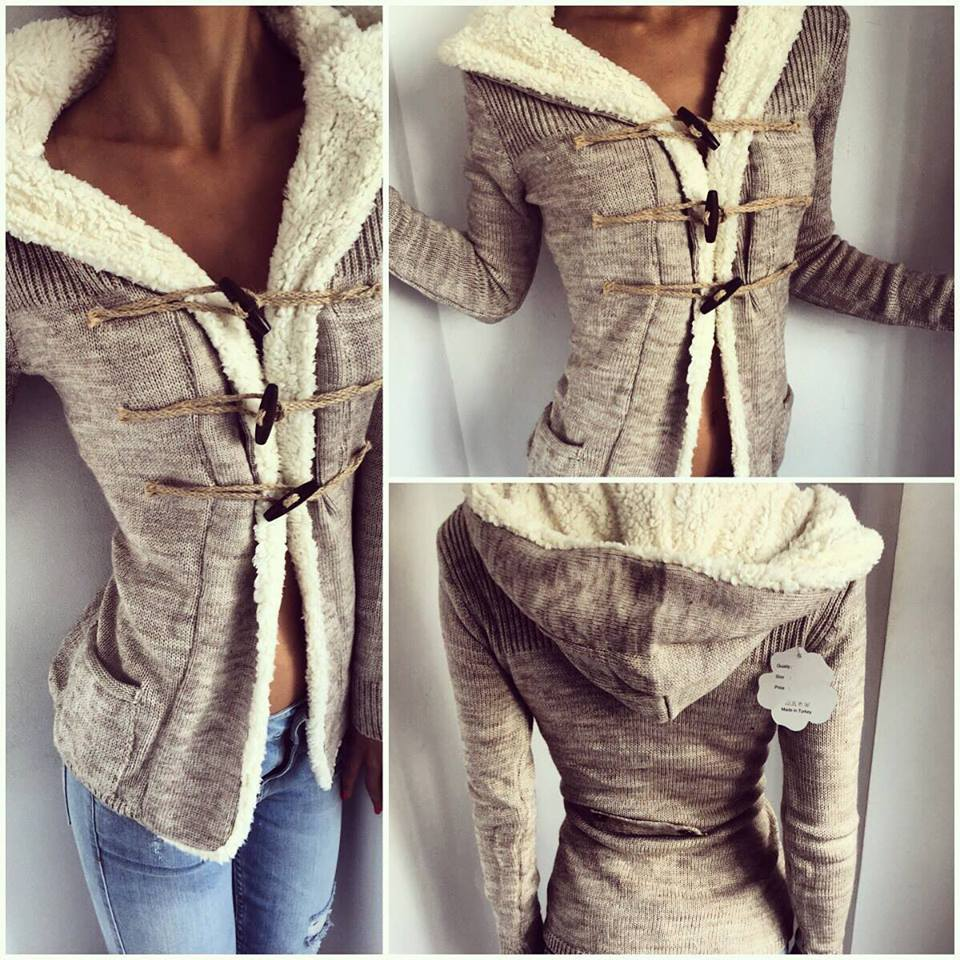 Aliexpress.com : Buy Womens Cardigan Long Sleeve Lamb Wool Warm ...