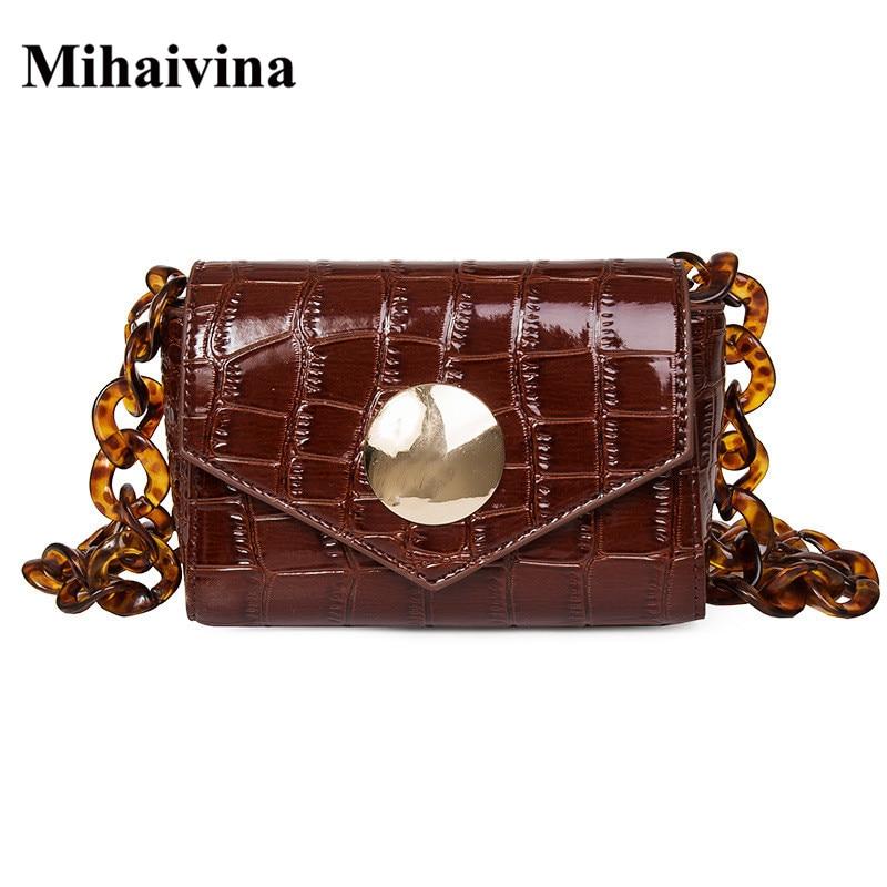 Mihaivina Women Belt Waist Bag Fashion Leather Female Shoulder Bags High Quality Waist Packs Lady Simple Flap Handbag Wholesale цена