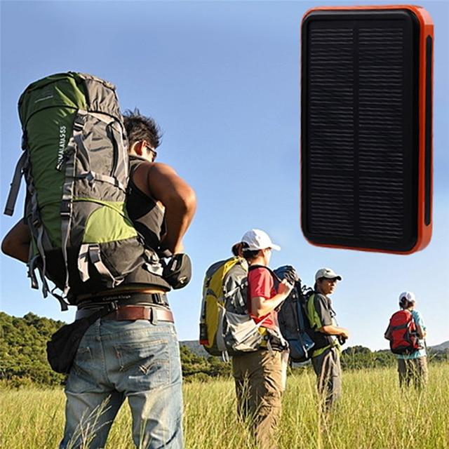 Фактическая емкость 8000 мАч сопротивление Водонепроницаемый Солнечной Энергии Банк Портативное Зарядное Устройство Travel Enternal Аккумулятор Powerbank для Iphone