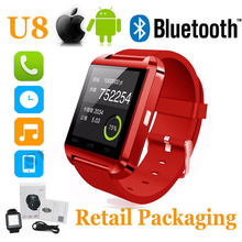 U8 Bluetooth Smart Watch WristWatch Phone sport watch Touch Screen men for Android OS and IOS Smartphone Samsung Smartphone(China)