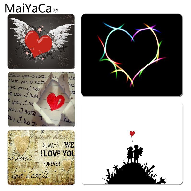 MaiYaCa Нескользящие PC любовь Коврик для мыши геймер играть коврики Размеры для 180x220x2 мм и 250x290x2 мм резиновая Мышь коврики