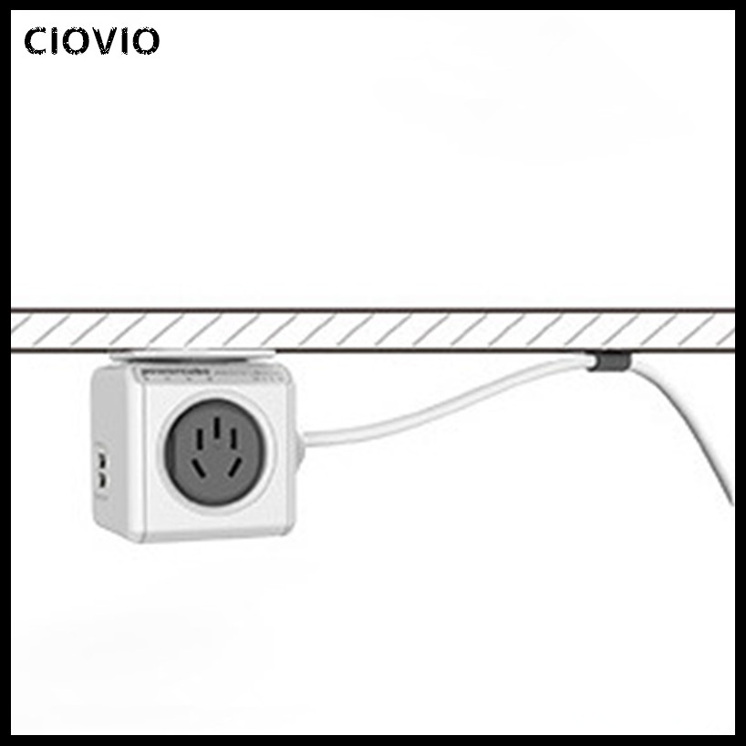 Image 5 - CIOVIO with wire Smart Home Power Cube Socket  CIOVIO Adapter Power Strip Multi Switched Sockets-in Electrical Sockets from Home Improvement