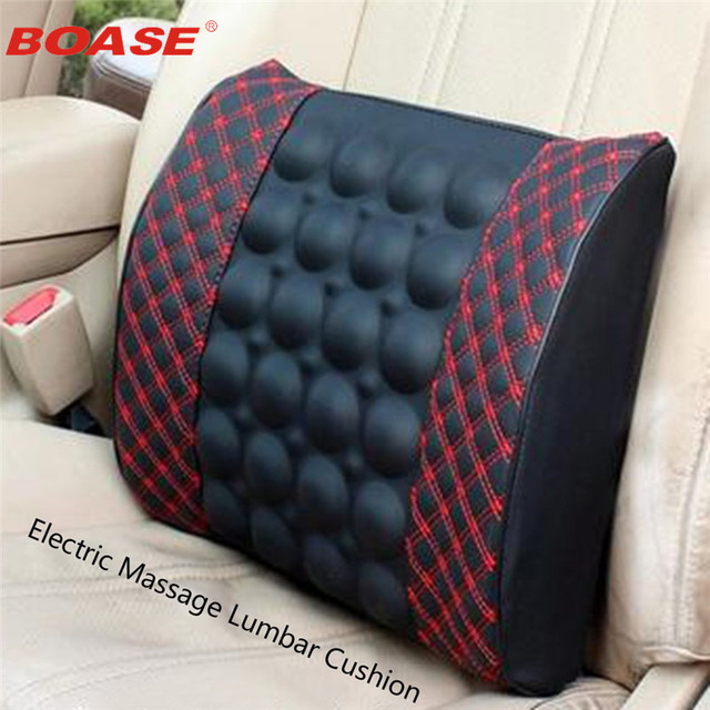 Electric Mage Lumbar Cushion For Car Memory Foam Office Seat Support Rest Back Pillow Chair Waist