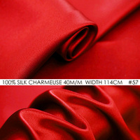 SILK CHARMEUSE SATIN 114cm Width 40momme 100 Silk Fabric Meter Heavy Silk 172g M2 Fashion Fabric