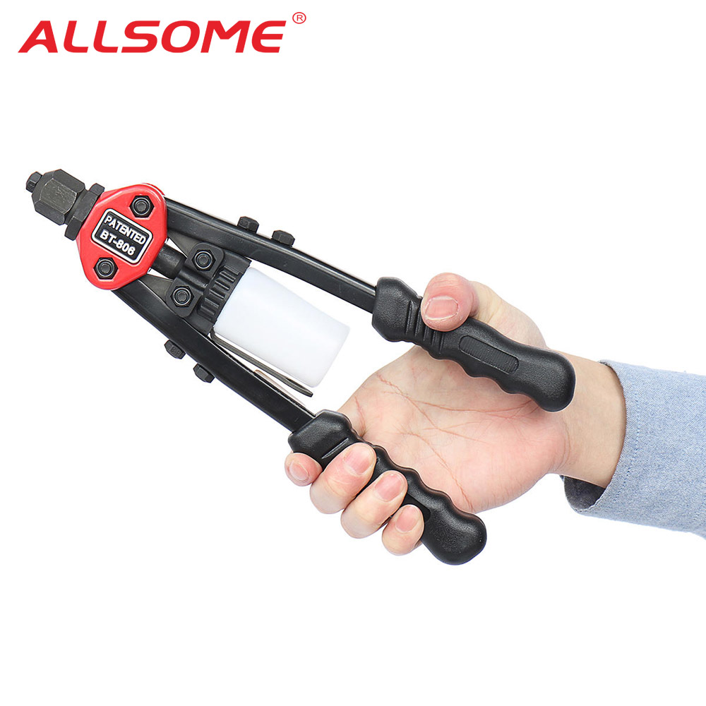 ALLSOME Auto Riveter Gun Hand Rivet Nut Threaded Heavy Duty Riveting Tool BT-806 HT2780