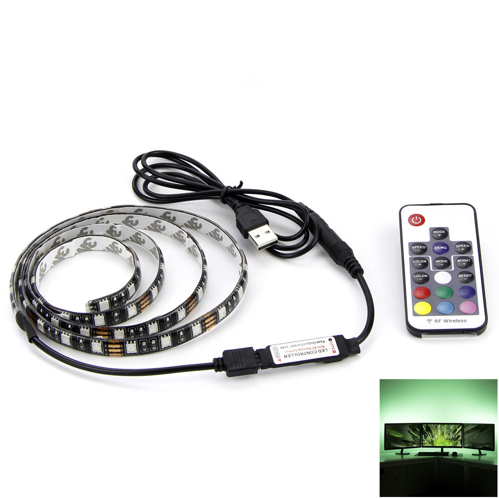 usb rgb led strip 5050 flexible adhesive tape multi color. Black Bedroom Furniture Sets. Home Design Ideas