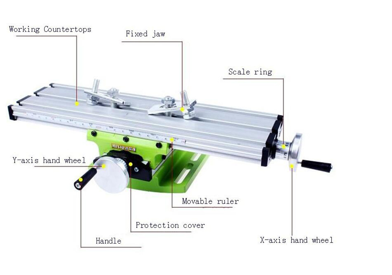 Multifunctional Cross Working Table For Drilling Milling Machine Bench drill stent Tools 1PC