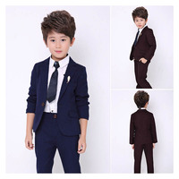 New kids suit set for boy blazers 3PCS male child casual suits fashion children wedding suits for boys party outfits 2 12Years