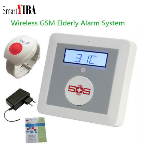 SmartYIBA APP Remote Control Wireless GSM SMS Alarm System Emergency SOS Wrist Panic Button SMS Alarm Elderly Care Panel цены