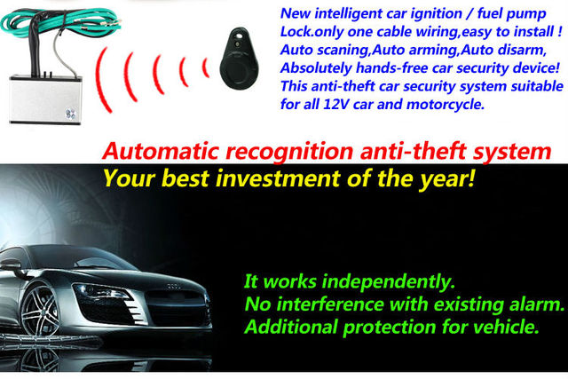 upgarde anti theft car alarm immobilizer hands free automatic