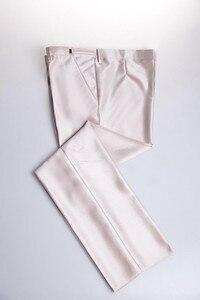Image 4 - האחרון עיצוב תפור לפי מידה אחת כפתור notch דש שמפניה חתן טוקסידו השושבינים חתונה גברים חליפות גברים (מעיל + מכנסיים + עניבה)