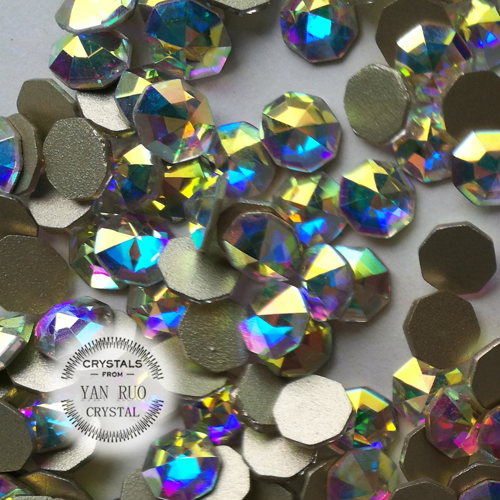 YANRUO 72 հատ 6mm # 2553 Crystal AB 3D Cossip Եղունգների - Մանիկյուր - Լուսանկար 4