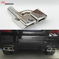 Stainless steel 1/pcs square twin-exhaust tip exhaust system end pipe tail muffler for Mercedes E class E63