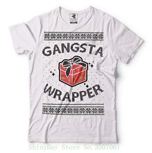 092ddd75698e Gangsta Wrapper Ugly Christmas Sweater Funny T-shirt Men T Shirt Cheap Sale  100 % Cotton