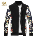 2016 Big Size 6XL Stand Collar 5XL 4XL Casual Floral Outerwear Coats Brand Clothing Jacket Men Manteau Homme