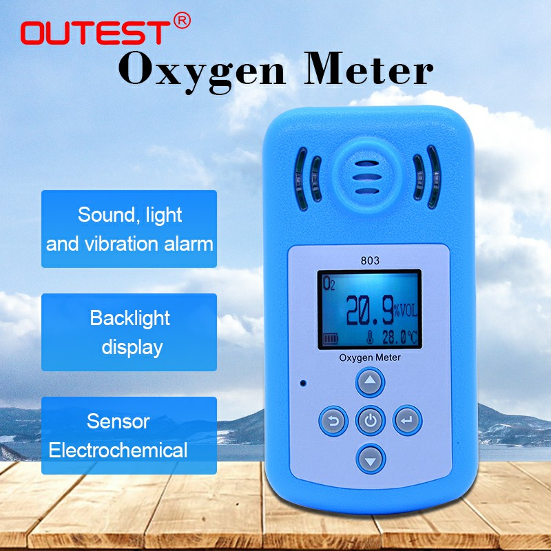 Large LCD Oxygen o2 Concentration gas Detector Oxygen gas meter air quality monitor Gas Analyzer Sound light vibration Alarm цены