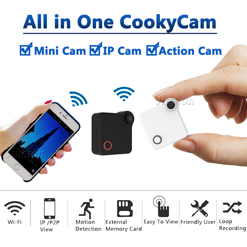 C1 WiFi P2P Mini Camera Webcam IP Camcorder with Motion Sensor DV DVR Magnetic Clip HD 720P Video Audio Recorder H.264 Micro Cam mini dv md80 dvr video camera 720p hd dvr sport outdoors with an audio support and clip