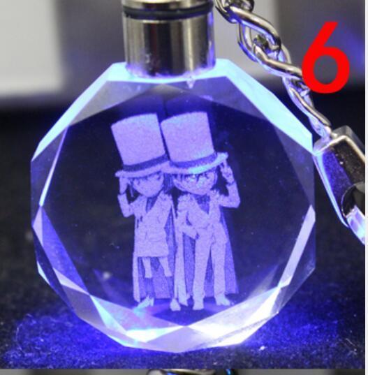 Аниме брелок светодиодный кристалл Детектив Конан в ассортименте 3