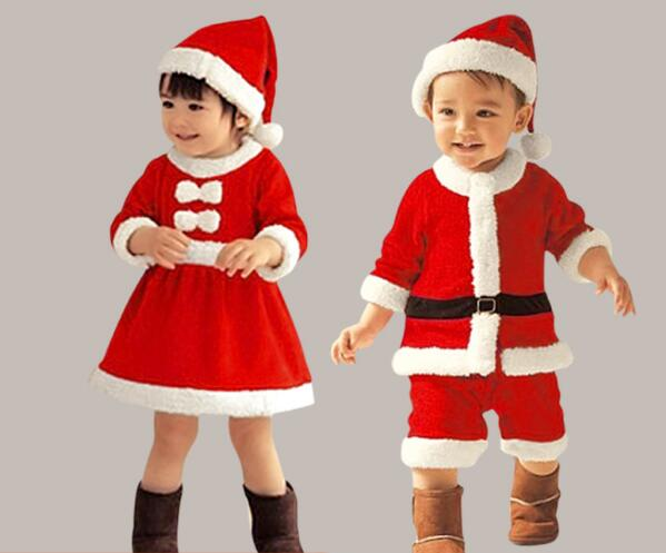 kid girl christmas clothes child children Christmas fairy elves Santa Claus clothes christmas party Halloween cosplay Costume