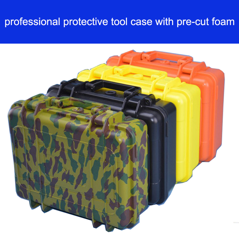 Tool Case Toolbox  Impact Resistant Sealed Waterproof Case 255*190*85mm Security Tool Equipment Encosure Box Tool Case With Foam