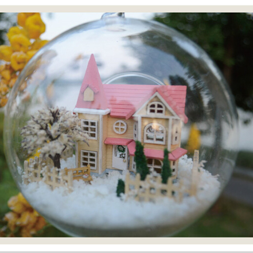 Architecture/diy House/mininatures Toys & Hobbies Diy Glass Ball 3d Miniature Assemble Model Mini Princess Building Dollhouse Kits With Funitures For Kids Or Adults Creative Gift