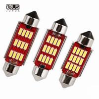 JURUS 10pcs 12V White Light C5W C10W 36 39 41mm Error Free 12 SMD 4014 Led