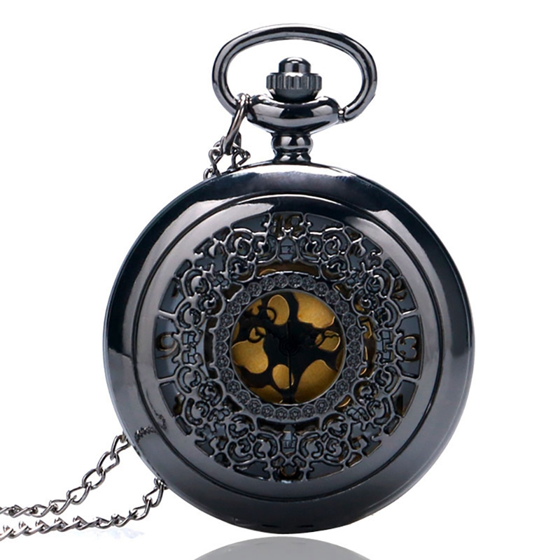 Reloj De Bolsillo Hollow Quarzt Vintage Pocket Watch For Men Women With Necklace Colar Masculino Pendant Chain Fob Clock Gifts