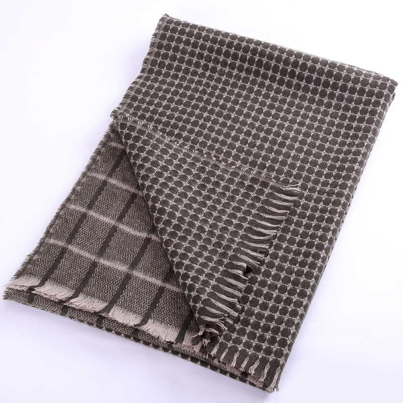 Marte Joven Fashion Polka Dot and Plaid Imitation Cashmere Warm Scarves for Women Fringe Pashmina Winter Za Shawls