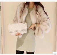 Free Shipping2014 Women S South Korea Act As Purchasing Agency Short Authentic Imitation Fur Coat Coat