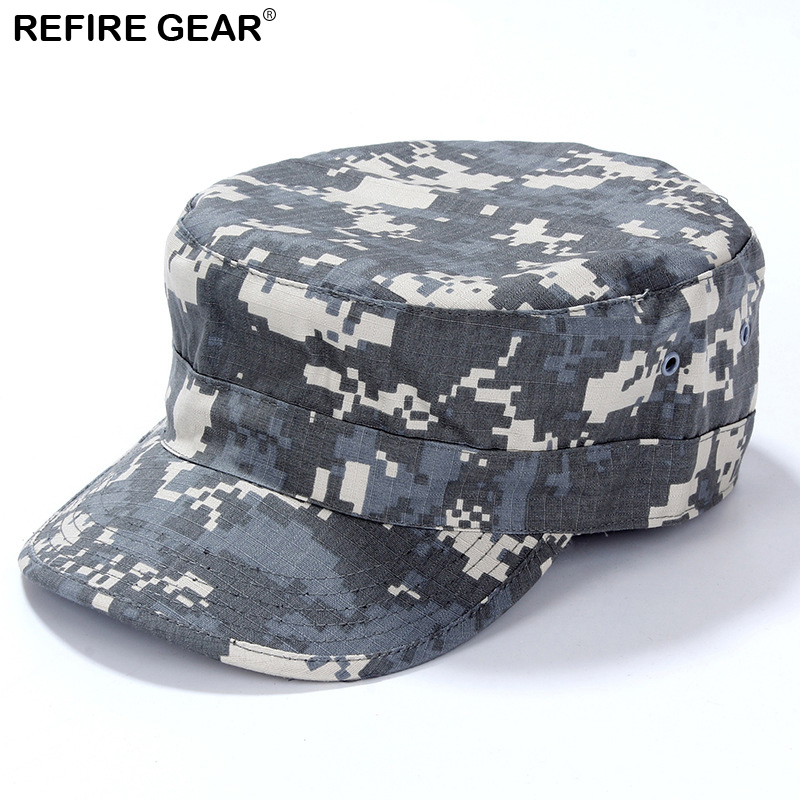 ReFire Gear Outdoor Camouflage Camping Cap Men Conceal Hunting Camping Hat Man New Airsoft Fishing Camo Hiking Cap