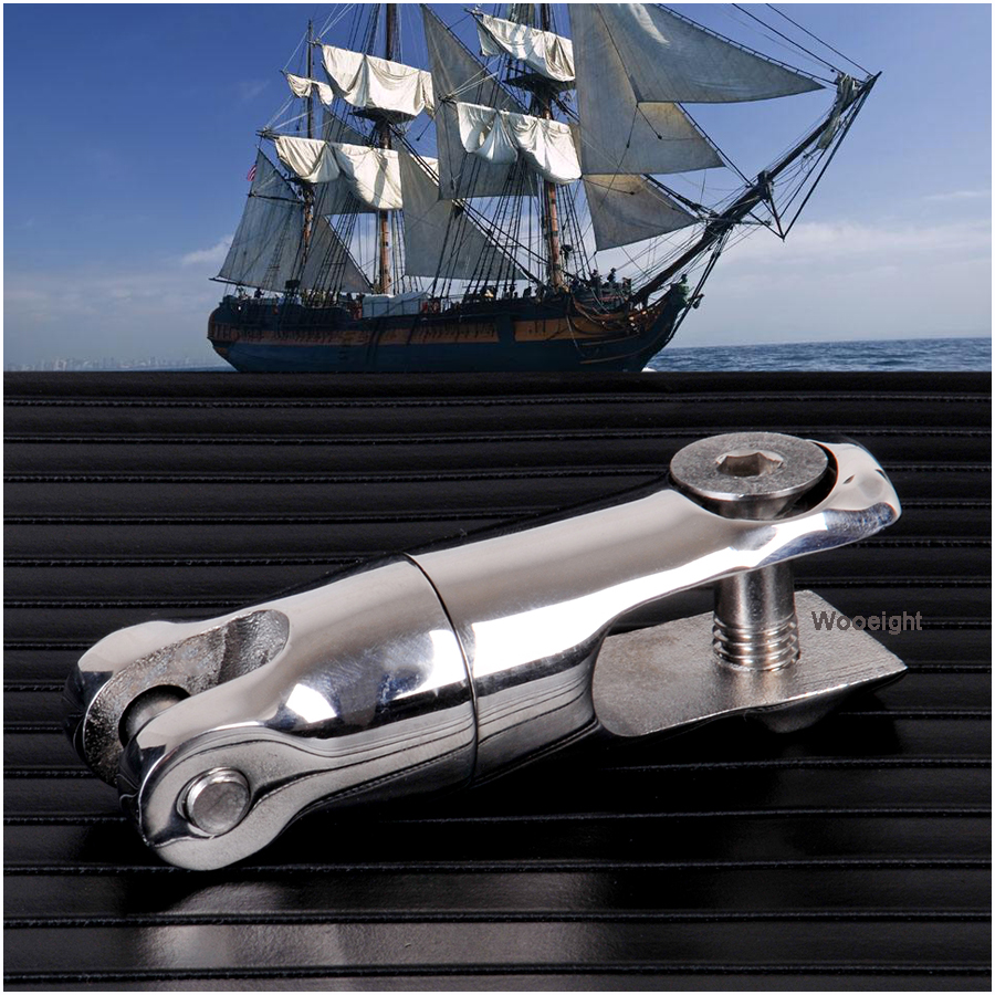 """Stainless Steel Marine Boat Anchor Swivel Connector 1//4/"""" to 5//16/"""" 360 Degree"""