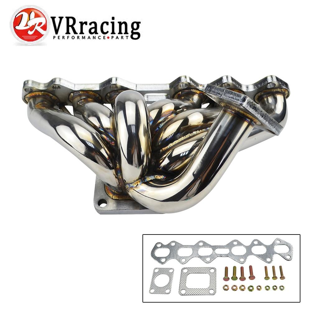 VR RACING - FOR SUPRA MKIV JZA80 2JZ-GTE 2JZGTE 2JZ ARISTO V300 T4 STAINLESS TURBO MANIFOLD VR3506